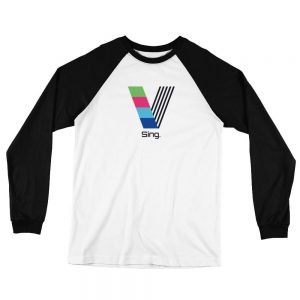 Sing White and Black Baseball Jersey T-Shirt