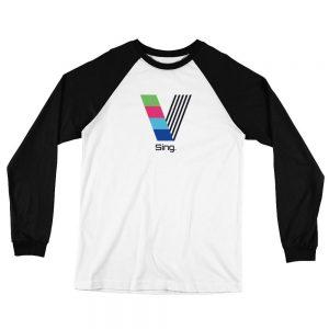 Sing White and Black Baseball Jersey T-Shirt