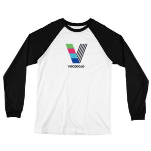 Vocodojo White and Black Baseball Jersey T-Shirt